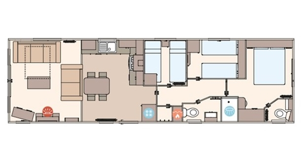 Sandycove - 2020 ABI The Beverley 40x12 3B Floorplan
