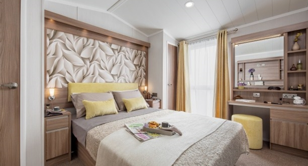 2017 Swift Chamonix Main Bedroom