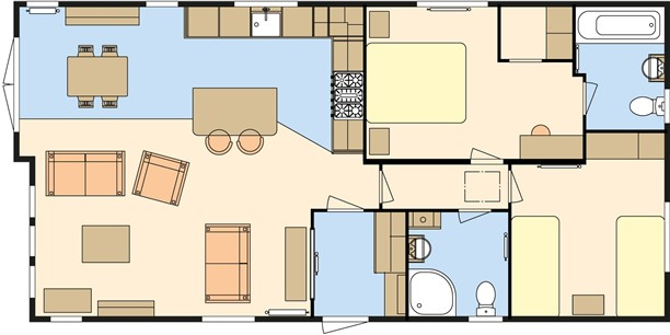 Sandycove - 2019 Atlas Debonair Lodge 40x20x2B Floorplan