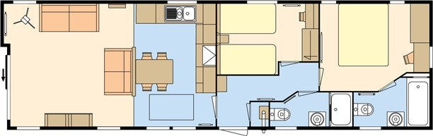 Sandycove - 2019 Atlas Trend Lodge 43x13x2B Floorplan